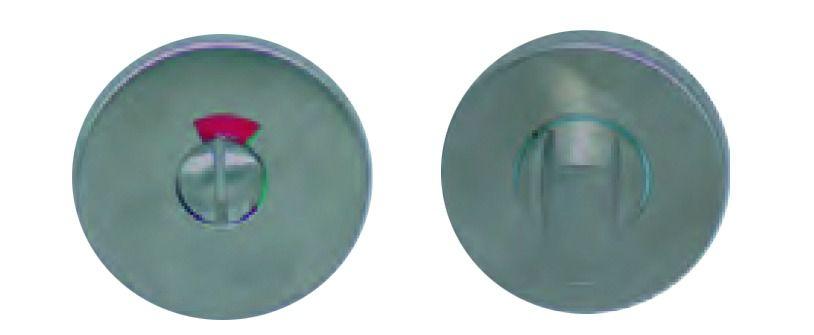 Garniture inox : Jeu de rosace ronde ø 53 mm - épaisseur 8 mm