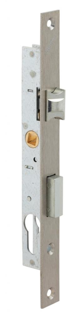 Serrure pour menuiserie métallique : 1 point - pêne dormant 1/2 tour
