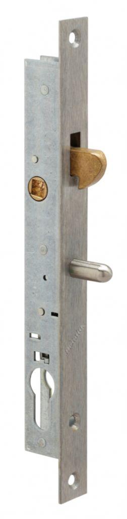 Serrure pour menuiserie métallique : 1 point - crochet pour profil coulissant