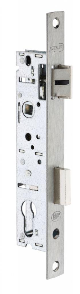 Serrure pour menuiserie métallique : 1 point - série 92 MTX - pêne dormant et 1/2 tour