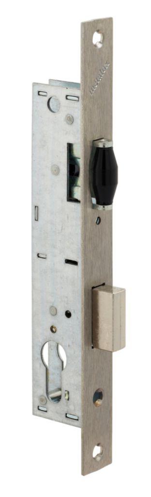 Serrure pour menuiserie métallique : 1 point - série 92 MTX - pêne dormant et rouleau réglable