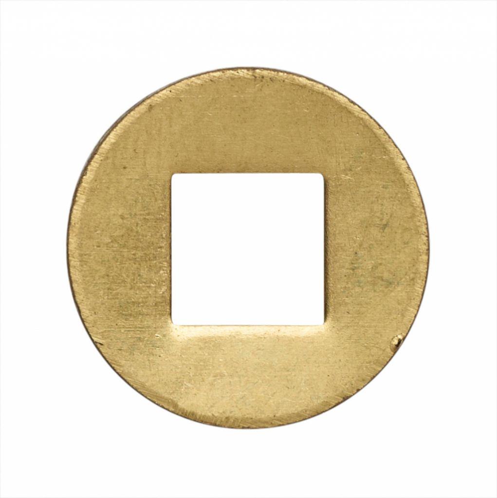 Accessoire pour bouton et béquille : Rondelle acier trou carré
