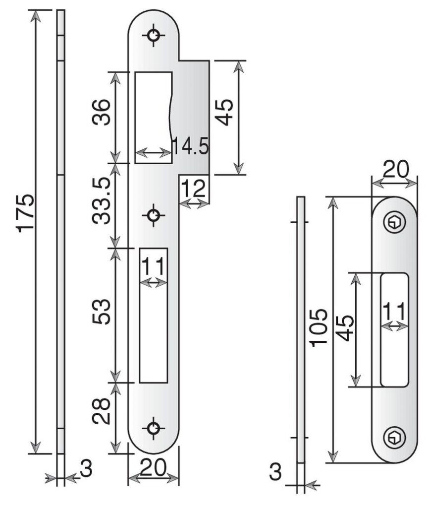 SERRURE A LARDER 3PTS A50 A2P* 2040