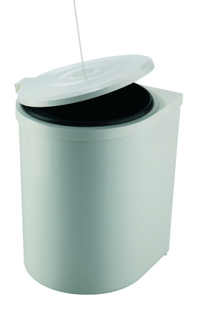 POUBELLE RONDE PLAST BLC 12 L