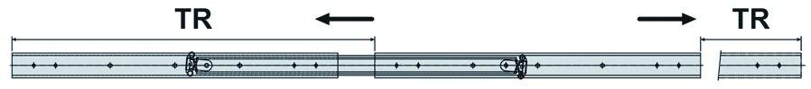 Coulisse à bille et bois : Double course DZ 3630 / 40 - 45 kg