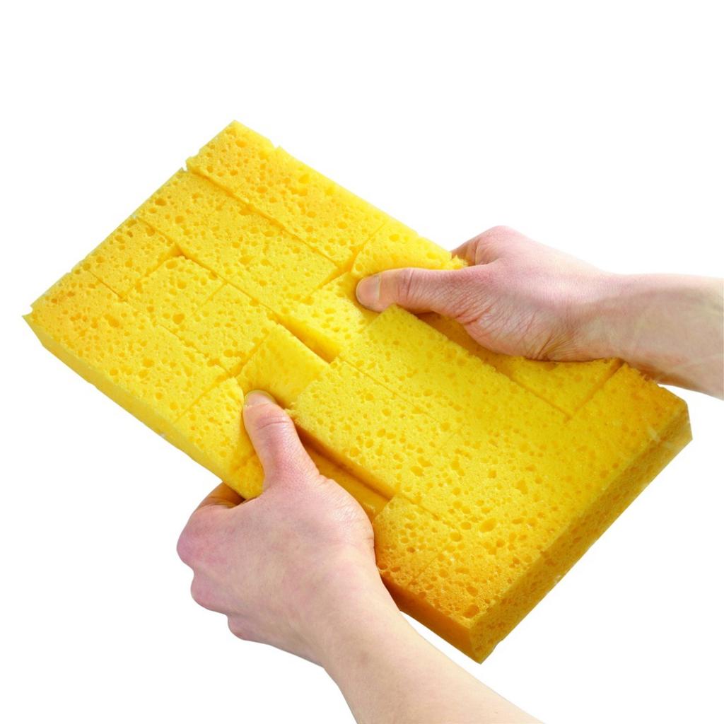 Outil de maçon : Platoir éponge jaune striée