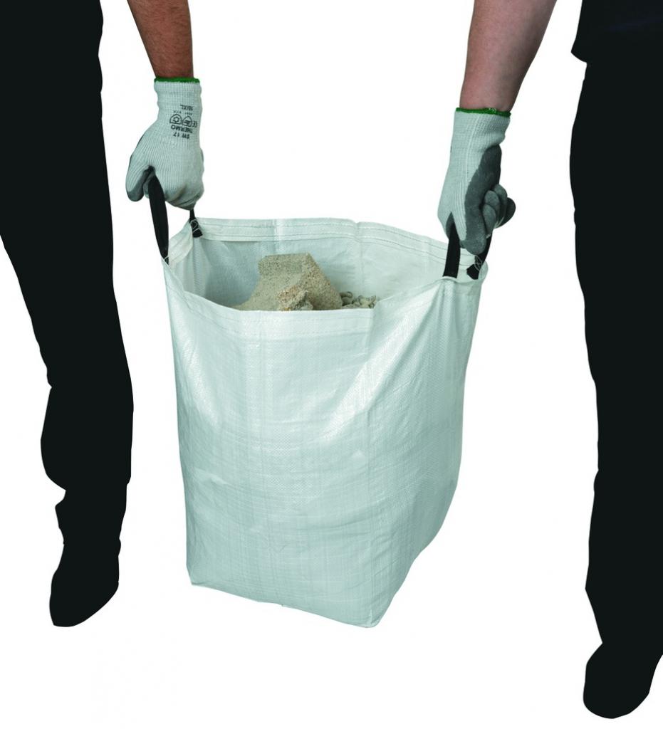 Manutention : Lot de 2 sacs à gravats avec poignées