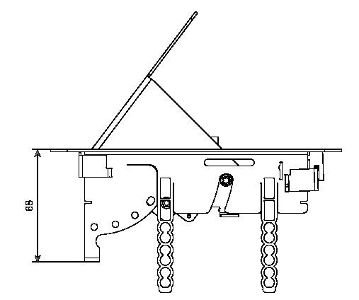 Enrouleur - prolongateur : Bloc 4 prises rectangulaire encastrable