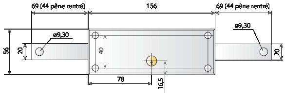 SERRURE RIDEAU CYL.157X55 RF 4517N