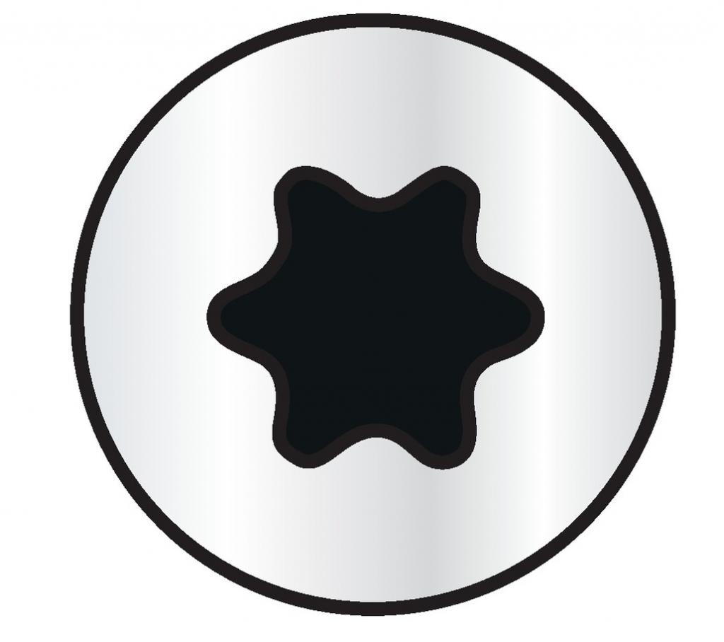Vis à bois aggloméré : Wirox - tête fraisée - T-Star plus