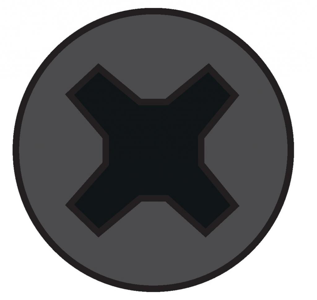Vis à bois : Vis plaque de plâtre - acier phosphaté noir - pour ossature bois