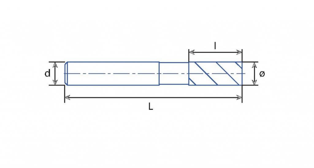 Fraise HSSE\frittée : Fraise 4 dents frittée finition - queue cylindrique Weldon