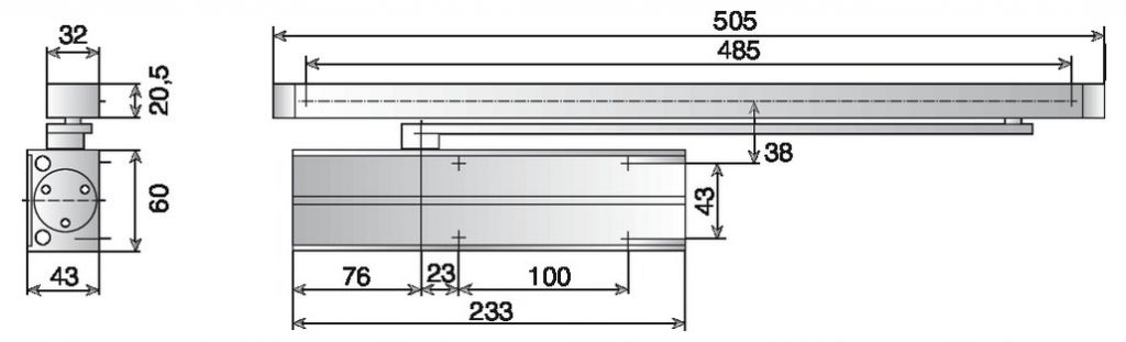 FERME PORTE DC135 EN3 BLANC CFPF