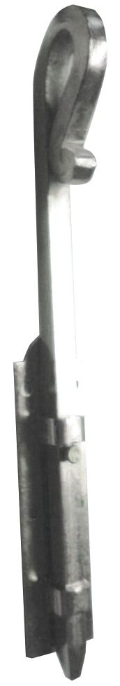 VERROU BARRIERE ZINGUE BLANC 14X400