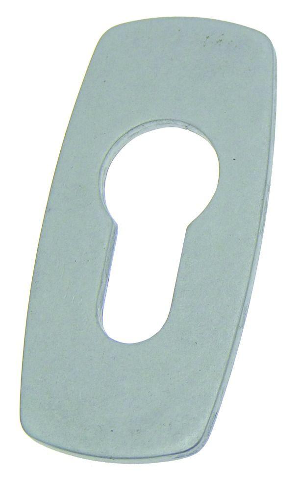 Accessoire pour bouton et béquille : Rectangulaire autocollante - pour cylindre européen