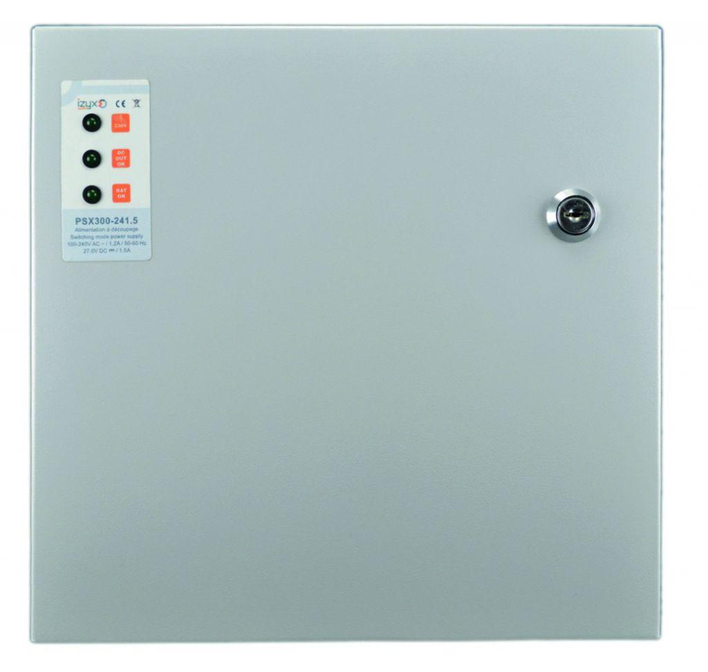 Alimentation et accessoire : Coffret métal secourue - 24 Vcc / 1,5 A