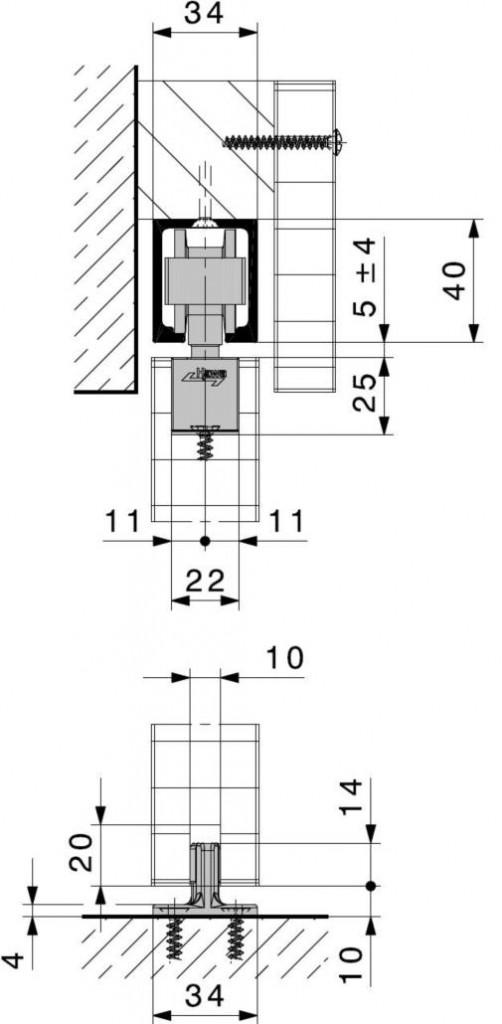 GARNITURE A ENCASTRER 80B(MOD) 80KG