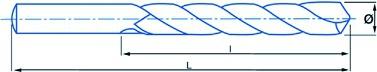 Foret à métaux : Foret HSSE Bullet - référence 1022