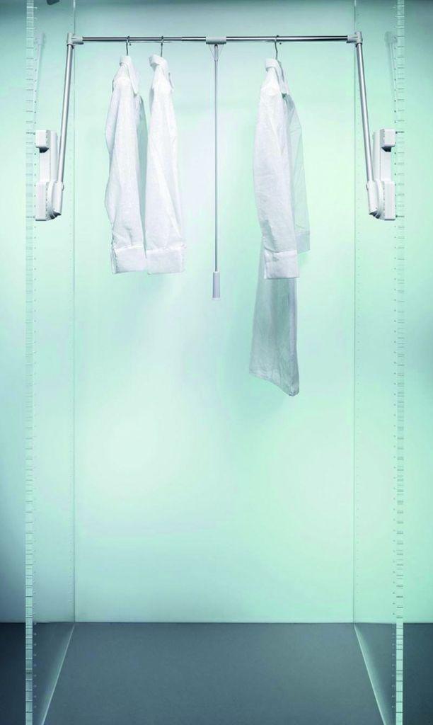 Accessoire pour penderie : Elévateur garde robe 15 kg - fixation latérale