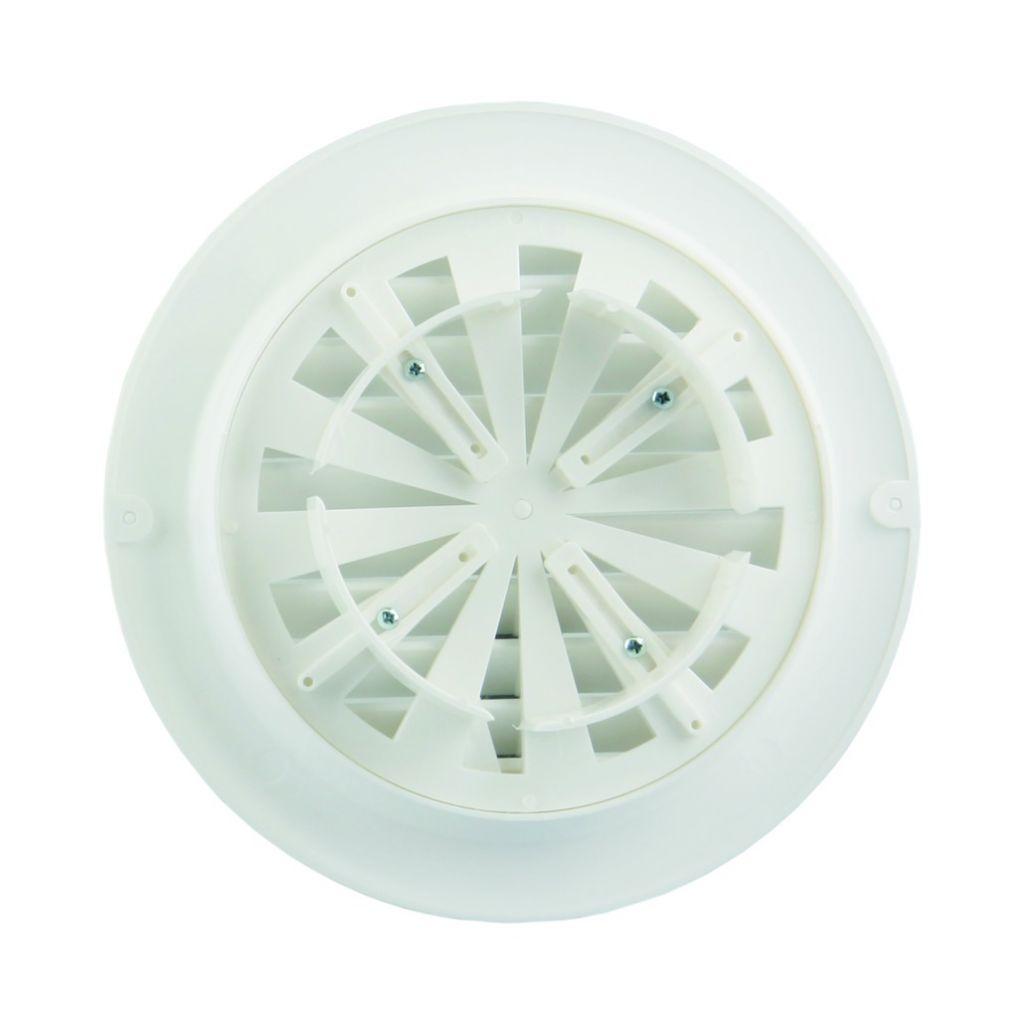 Ventilation : Grille ronde réglable PVC