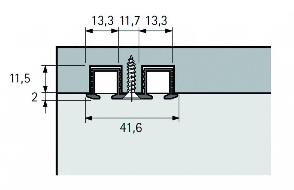 RAIL DOUBLE 2ML P/SYSLINE A VISSER