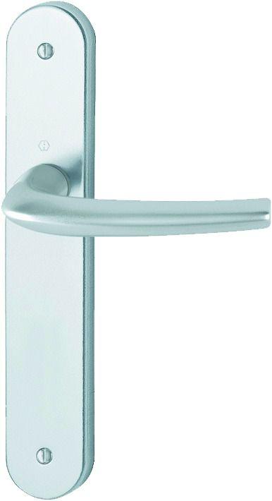 Ensemble aluminium anodisé : Plaque 240 x 40 mm - entraxe de fixation 195 mm