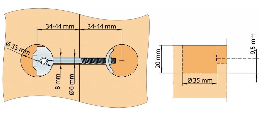 Plan de travail : Zipbolt 85 UT - montage rapide pour plan de travail