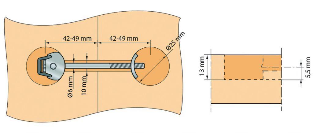 Plan de travail : Zipbolt mini UT - montage rapide pour plan de travail