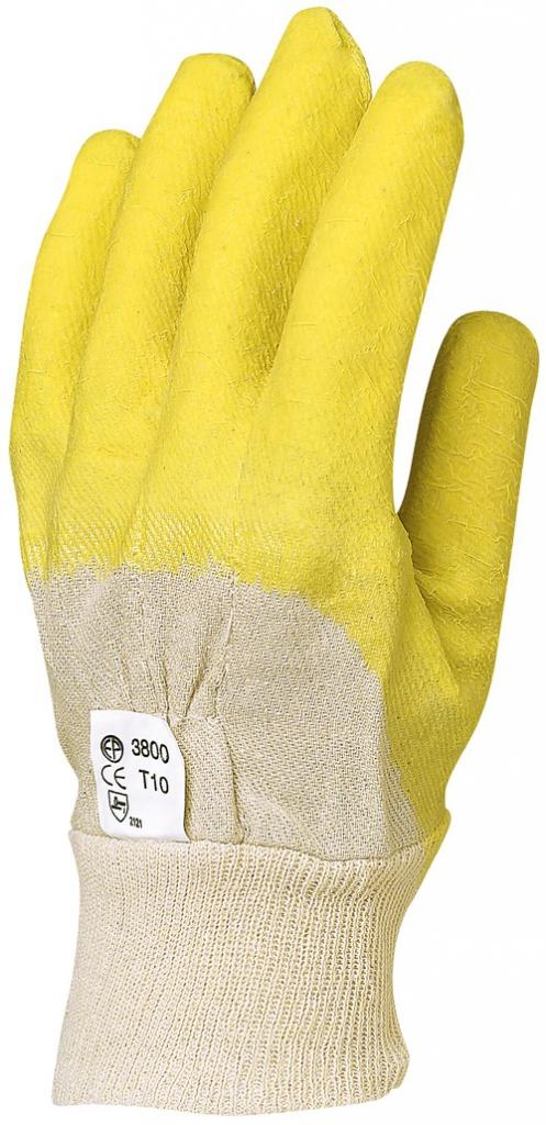 Gants enduits latex : Latex structure rugueuse fine sur support coton