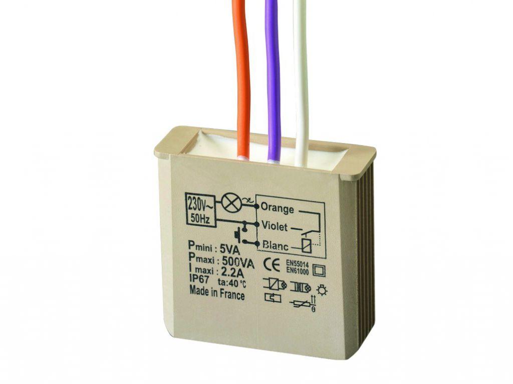 Solution domotique : Télévariateur sans neutre encastré 500W