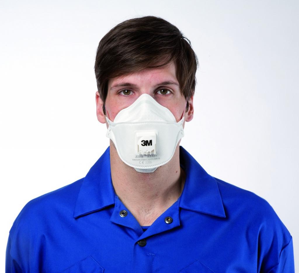Masques pliables jetables : FFP3 - 9332+ - 3M