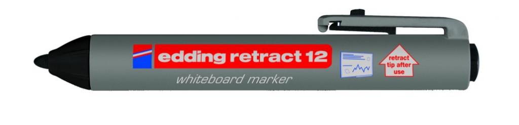 Communication visuelle : Marqueur effaçable à sec rétractable E-12