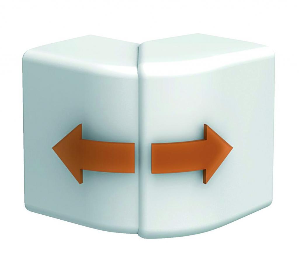 Goulotte PVC : OptiLine 45 - angle extérieur variable
