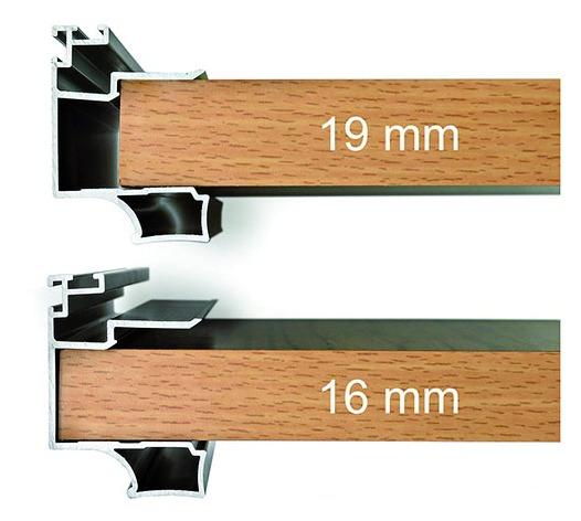 Coulissant meuble bois : Profil Prolux