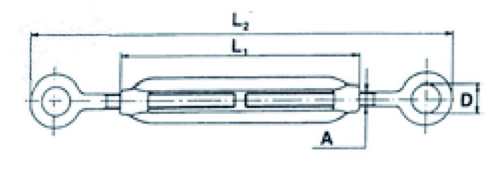Accessoire pour câble : Tendeur à 2 yeux