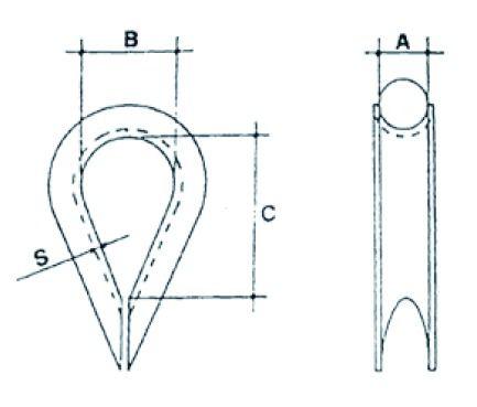 Accessoire pour câble : Cosse-câble - inox A4