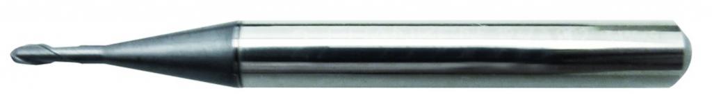 Fraise carbure : Fraise 2 dents hémisphérique carbure revetûe TIALN