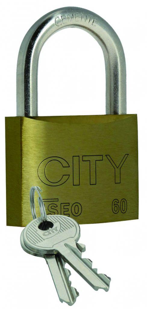 Cadenas à clés : Laiton massif - série City
