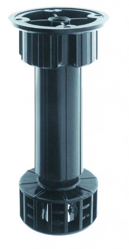 Pied de meuble ø 28 mm : Avec vérin réglable -5 / +20 mm et embase fixe