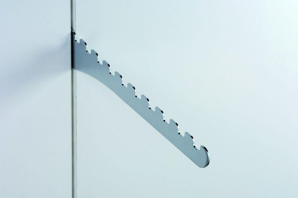 Crémaillère et console - Sofadi - pas de 37 mm : Support perroquet incliné