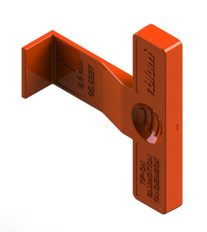 Kit double paroi Blum - intivo : intivo hauteur N : 82,5 mm - inox anti-traces