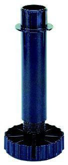 Pied de meuble ø 34 mm : Avec vérin et embase démontable