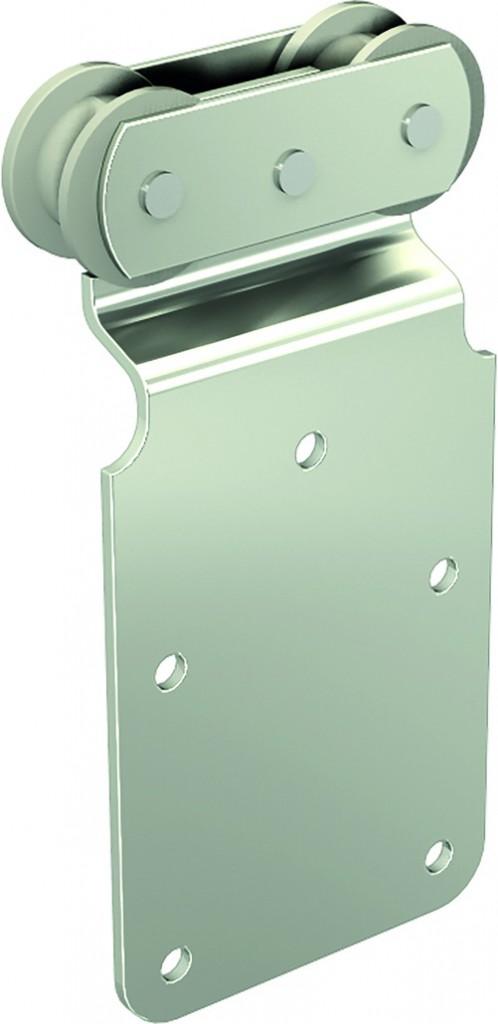 Ferrure de porte coulissante et pliante Mantion : Série Sportub - pour porte de 150 kg - porte à déplacement droit sur profil
