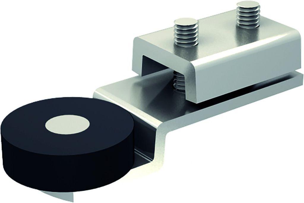Ferrure de porte coulissante et pliante Mantion : Butée d'extrémité pour porte coulissante
