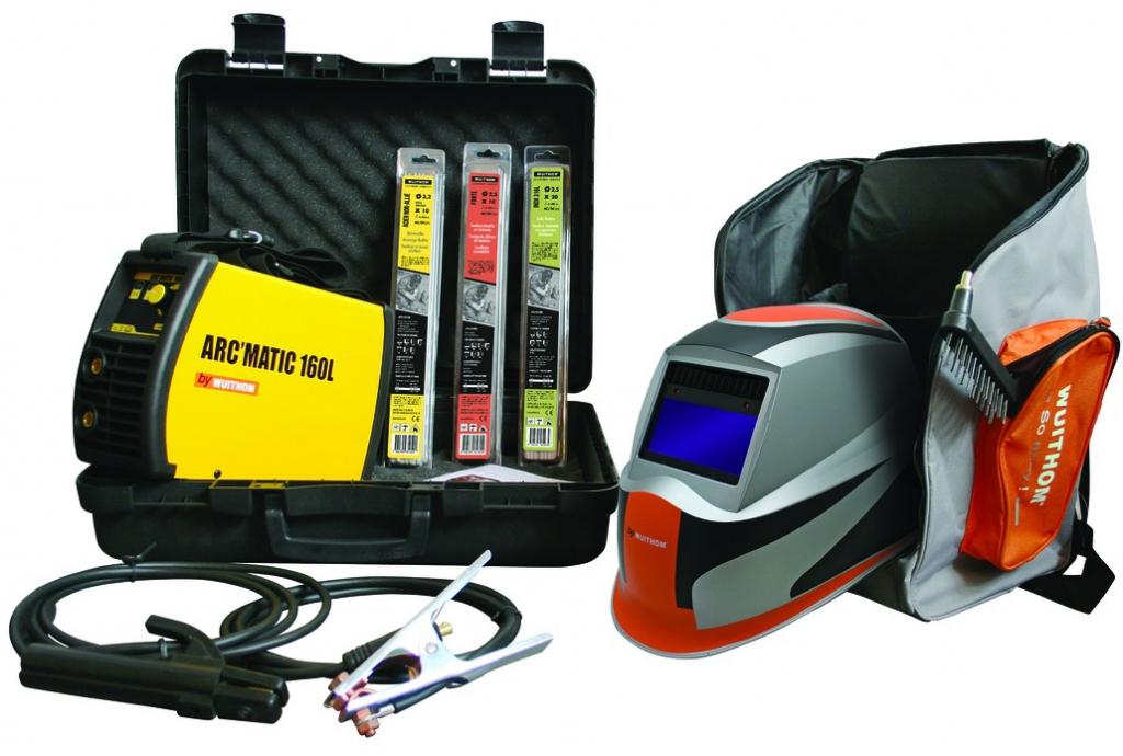 Soudage à l'arc : Pack poste ARCMATIC 160 L + cagoule + électrodes