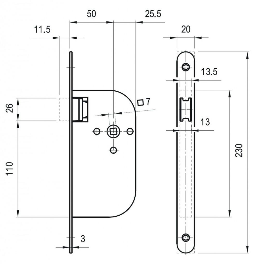 Serrure à larder pour porte d'intérieur : Magnétique
