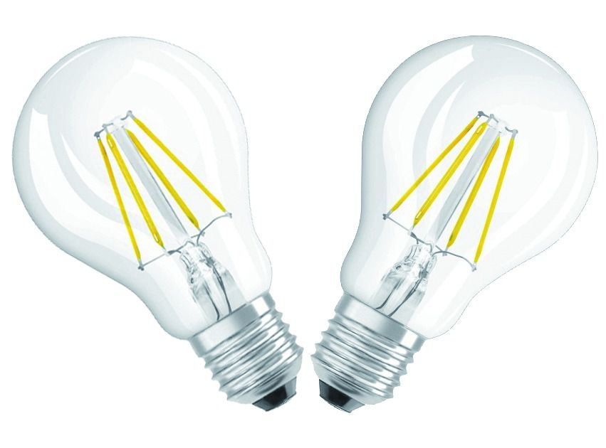 LOT 2 LAMPES LED CLAIRE 6W/827 E27