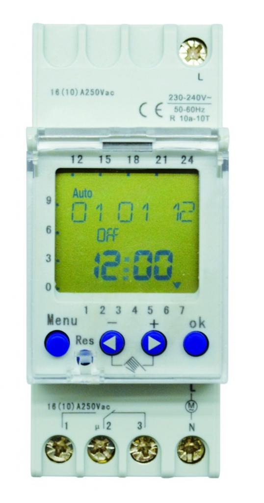 Appareillage modulaire : Horloge digitale hebdomadaire
