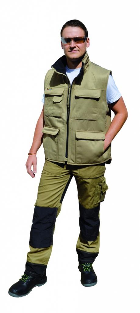 Vêtement de travail : Pack pantalon + gilet + genouillères