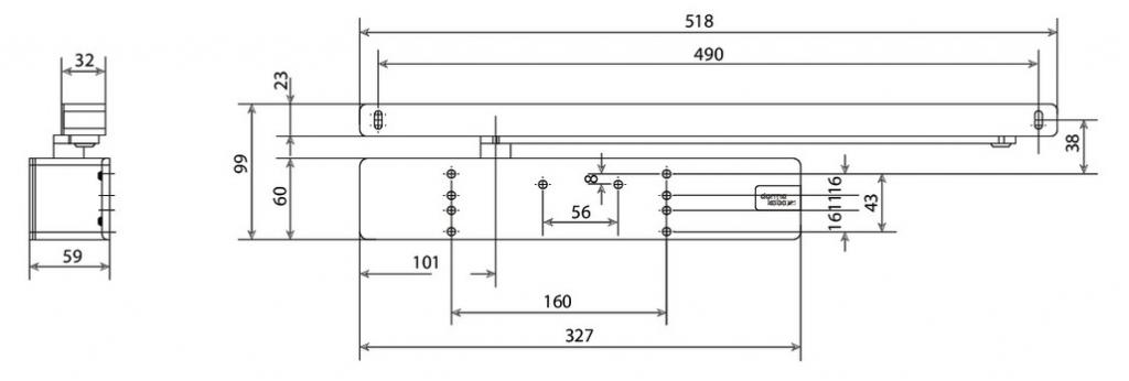 FERME PORTE TS98XEA F1-6 BLANC 9010